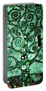 Tree Of Life Abstract Expressionism Portable Battery Charger