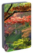 Trees In A Garden, Butchart Gardens Portable Battery Charger