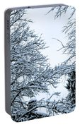 Trees With Snow Portable Battery Charger