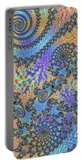 Trippy Vibrant Fractal  Portable Battery Charger