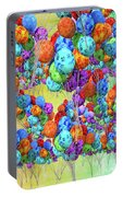 Tropical Print Balloons Portable Battery Charger