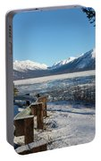 Turnagain Arm And Chugach Range From Sunrise Alaska Portable Battery Charger