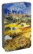 Tuscan Landscape - San Gimignano Portable Battery Charger