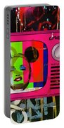 Tv Madonna On Air On Barcelona Walls  Portable Battery Charger
