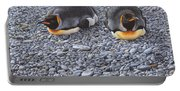 Two King Penguins By Alan M Hunt Portable Battery Charger