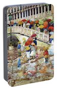 Umbrellas In The Rain - Digital Remastered Edition Portable Battery Charger