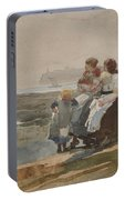Under The Cliff, Cullercoats , 1881 Portable Battery Charger