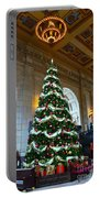 Union Station Decorates For Christmas In Kansas City Portable Battery Charger