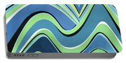 Untitled  Abstract Blue And Green Portable Battery Charger