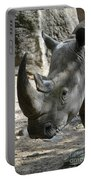 Up Close Look At The Face Of A Rhinoceros Portable Battery Charger