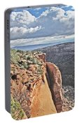 Valley Colorado National Monument Sky Clouds 2892 Portable Battery Charger