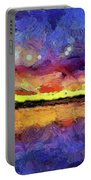 Van Gogh Sunset Reflection Portable Battery Charger