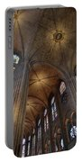Vaults Of Notre Dame De Paris Before The Fire Of 2019 Portable Battery Charger