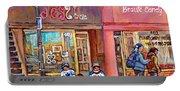 Verdun Montreal Storefront Painting Jessie Et Cie Beaute Candy Nail Shop Hockey Artist C Spandau Art Portable Battery Charger