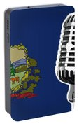 Vermont Flag And Microphone Portable Battery Charger