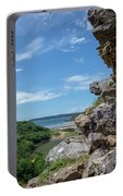 View From Pennard Castle Portrait Portable Battery Charger
