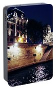 View Of Notre Dame From The Sienne River In Paris, France Portable Battery Charger