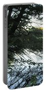 View Of The Lake Through The Branches Portable Battery Charger