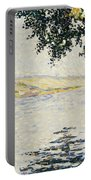 View Of The Seine At Herblay     Portable Battery Charger