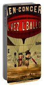 Vintage Hot Air Balloon Portable Battery Charger
