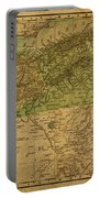 Vintage Map Of North Africa Including Morocco Algeria And Tunisia 1901 Portable Battery Charger