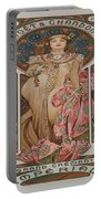 Vintage Poster - Champagne Portable Battery Charger