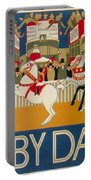 Vintage Poster - Derby Day Portable Battery Charger