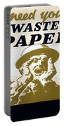 Vintage Poster - I Need Your Waste Paper Portable Battery Charger