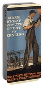 Vintage Poster - Make Every Minute Count Portable Battery Charger