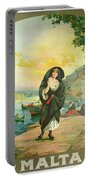 Vintage Poster - Malta Portable Battery Charger