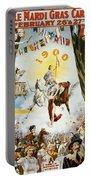 Vintage Poster - Mobile Mardi Gras Portable Battery Charger
