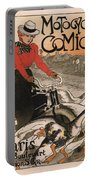 Vintage Poster - Motocycles Comiot Portable Battery Charger