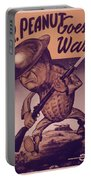Vintage Poster - Mr. Peanut Goes To War Portable Battery Charger