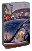 Vintage Vw Beetle At Sunset Portable Battery Charger