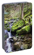 Vivid Green In The Black Forest Portable Battery Charger