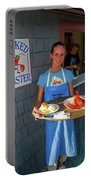 Waitress Serving Lobster  Portable Battery Charger