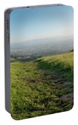 Walking Downhill Large Trail With Silicon Valley At The End Portable Battery Charger