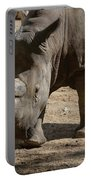 Walking Rhino With One Large Horn And One Small Horn Portable Battery Charger