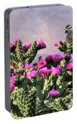 Walking Stick Cactus And Wren Portable Battery Charger