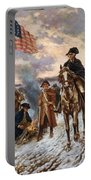 Washington At Valley Forge Portable Battery Charger by War Is Hell Store