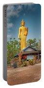 Wat Kham Chanot Golden Buddha Portable Battery Charger by Adrian Evans