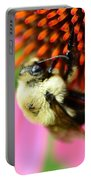 Water Drop On Bee Eye Portable Battery Charger