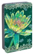 Water Lily And Lace Portable Battery Charger