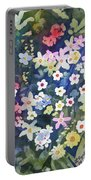 Watercolor - Alpine Wildflower Design Portable Battery Charger