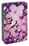 Watercolor - Cherry Blossom Design Portable Battery Charger