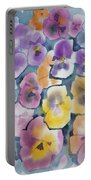 Watercolor - Pansy Design Portable Battery Charger