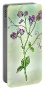 Watercolor Sweet Pea Flower Botanical Portable Battery Charger