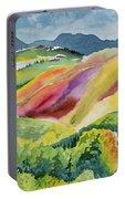 Watercolor - Wilson Mesa Landscape Impression Portable Battery Charger