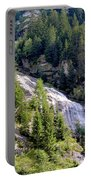 Waterfall In The Mountains. Portable Battery Charger