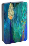 Watery Abstract Xviii - Women And Candles Portable Battery Charger